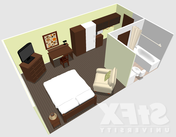 Single suite residence layout at StFX